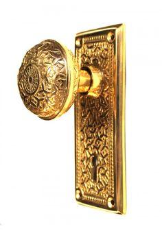 Victorian Passage Vintage Door Back Plate W Eastlake Brass Key Swinging  Hole The Victoriana Hardware Restoration