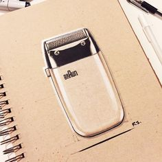"""#TBT Classic Dieter Rams shaver. #DieterRams #Braun #industrialdesign #productdesign #ID #idsketch #idsketching #sketching #sketch #sketchbook #design…"""