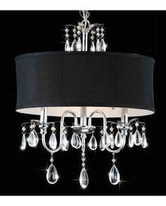 Black Drum Shade Chandelier NWO1732