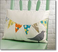 Hanging Flags Fusible-Appliqué Pillow  by Melissa Lunden