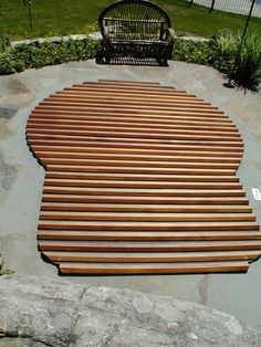 Custom built Great Northern® Roll-Up® Cover for in-ground hot tub.