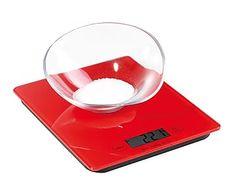 Balanza electrónica de cocina, rojo - 3Kg