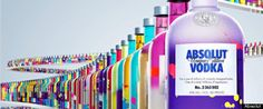 ABSOLUT VODKA'S 'UNIQUE': COMPANY RELEASES 4 MILLION ONE-OF-A-KIND BOTTLES (So purdy!)