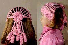 Повязка-шапка для девочки