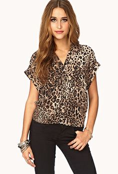 Essential Leopard Print Top | FOREVER21 - 2079021114