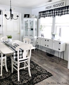 Kitchen rug and cabinet
