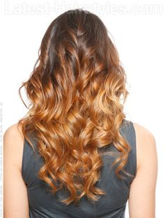 Soft Caramel Dream Long Wavy Look Back View