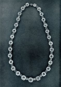 The round diamonds are from a riviere given to Princess Irina of Russia by her uncle, Czar Nicolas II on the occasion of her marriage to Prince Youssoupoff.