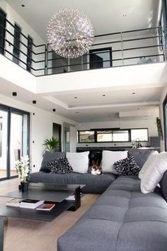 Maison contemporain - contemporary - Living Room - Other Metro - VERONIQUE SGARRA DECORATRICE D'INTERIEUR
