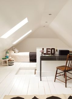 not only could you turn your loft into another bedroom but also a study as well