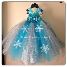 Snow Queen Elsa dress inspired tutu dress by LittledreamsbyMayra, $70.00