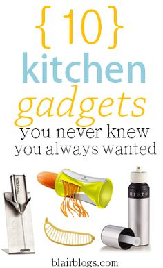 10 Kitchen Gadgets You Never Knew You Always Wanted via Blair Blogs | This is a fun post to read if you love to cook or bake, especially since these items make life easier and are inexpensive! Definitely adding many of these items to my Christmas list :)
