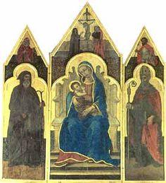 Trittico del XIV secolo in stile gotico, che si trova all'interno della chiesa di Santa Maria di Maniace