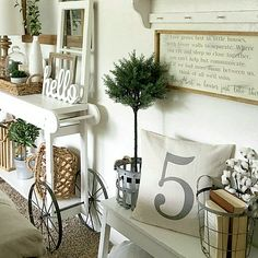 Farmhouse Living Room Ideas - These Stunning Living Spaces with Farmhouse Decoration will certainly take your breath away. The shades, texture, accessories will motivate you for days! My Living Room, Living Room Decor, Living Spaces, Amazing Decor, Condo, Farmhouse Chic, Little Houses, Decoration, Rustic Decor