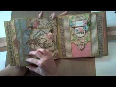 8x8 Graphic45 Botanical Tea Mini-Album - YouTube