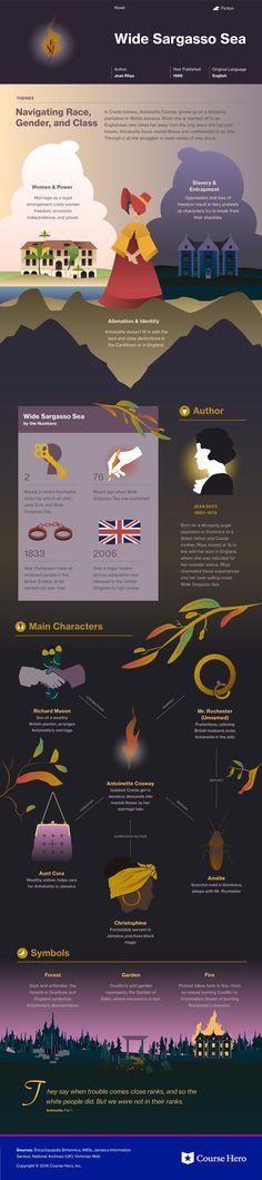 Wide Sargasso Sea infographic
