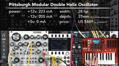 Pittsburgh Modular Double Helix Oscillator 1/4: Demo + Overview (LMS Eur...