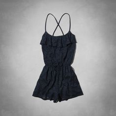 Cute navy blue lace romper from Abercrombie Kids.