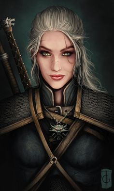 My first thought when I looked at her was that she's Manon's mother. Those eyes were the main reason, but more I look at her I see more - the scars, the white hair even through she doesn't look old... (Eve of Rivia by thegameworld)