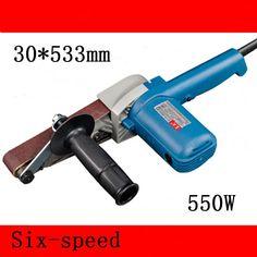 550.00$  Buy here - http://alihgc.worldwells.pw/go.php?t=32726737628 - 8pcs/lot  Variable Speed 30*533mm Belt Sander 550w High Power Woodworking Belt Sander 220-240v Sandpaper Grinder 550.00$