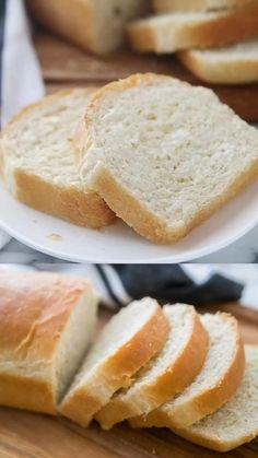 Soft Bread Recipe, Homemade Sandwich Bread, Best Homemade Bread Recipe, Bread Dough Recipe, Sandwich Bread Recipes, Healthy Bread Recipes, Easy Homemade Recipes, Healthy Homemade Bread, Easy White Bread Recipe