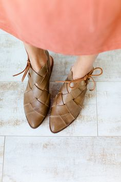 397f987b8bb35 Free People Destino Woven Flat in Taupe  RESTOCKED