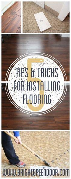 www.BrightGreenDoor.com 5 Tips & Tricks for Laying Laminate Flooring