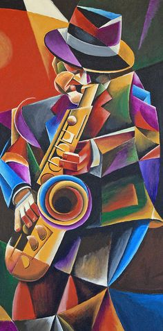 Sax Painting - Jazz Sax by Bob Gregory