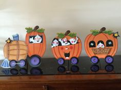 Halloween Train, Country Halloween, Halloween Crafts For Kids, Halloween 2016, Halloween Design, Diy Halloween Decorations, Holiday Crafts, Halloween Stuff, Moldes Halloween