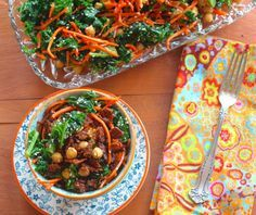 Kale Salad with Chickpeas and Spicy Tempeh Bits | 23 Vegan Meals With Tons Of Protein