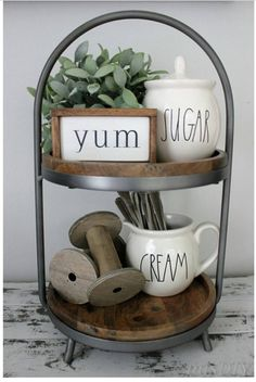 The spools seem not to fit the kitchen theme here... but this is cute none the less