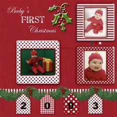 Babys 1st Christmas - http://Scrapbook.com