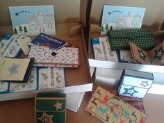 die kleine Kartenwerkstatt: bald beginnt der Advent
