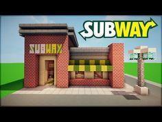 restaurant arquitectura Minecraft: Eine U-Bahn bau - restaurant Minecraft Restaurant, Minecraft Stores, Villa Minecraft, Minecraft City Buildings, Minecraft Mansion, Minecraft Room, Minecraft House Designs, Cool Minecraft Houses, Minecraft Architecture