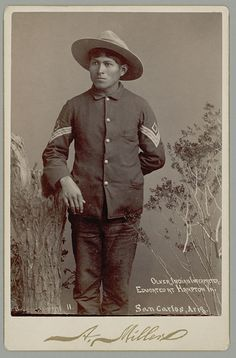 apache indian culture | Portrait of Oliver, Sargent of Scouts and Interpreter in Uniform n.d.
