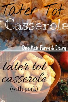 Tater Tot Casserole (with Pork): One Ash Homestead