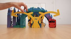 Stop motion paper art animation