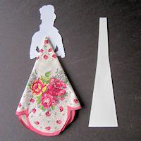 Valentine Hankie Doll, step 6