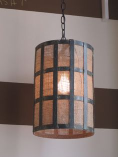 Industrial chic.  I could redo my lampshades like this