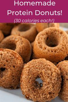 Donuts Vegan, Protein Donuts, Healthy Donuts, Healthy Snacks, Mini Donut Recipes, Easy Donut Recipe, Protein Powder Recipes, High Protein Recipes, Healthy Recipes