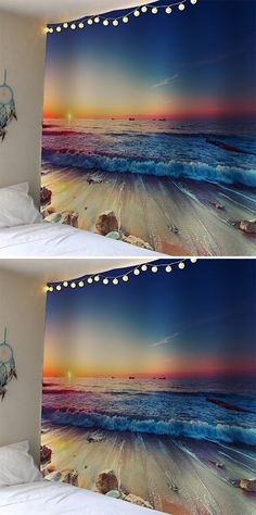 home decor:Sunset Seaside Wall Tapestry