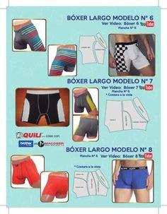 Hugo Quili Underwear Pattern, Lingerie Patterns, Sewing Lingerie, Lingerie For Men, Mens Sewing Patterns, Sewing Men, Sewing Clothes, Clothing Patterns, Ropa Interior Boxers