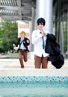 Haruka Nanase and Makoto Tachibana - Free!
