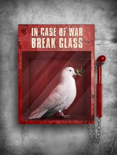 In case of war break the glass art art graffiti art graffiti definition art graffiti quotes art graffiti words art quotes wall art quotes Illustrator, Urbane Kunst, Art Photography, Street Photography, Urban Art, Belle Photo, Amazing Art, Awesome, Cool Art