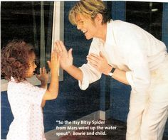 David Bowie & daughter Alexandria (Lexi)