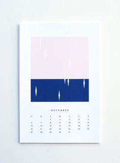 SALE 2015 wall calendar colors by dozi on Etsy