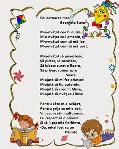 Educatoarea mea - Georgeta Savu Act Practice, 4 Kids, Nursery Rhymes, Montessori, Acting, Kindergarten, Language, Parenting, Classroom