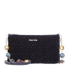 Miu Miu - Matelasse velvet clutch - mytheresa.com