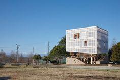 Studenten bauen mit Kengo Kuma in Japan / Leben im Gewächshaus - Architektur und Architekten - News / Meldungen / Nachrichten - BauNetz.de