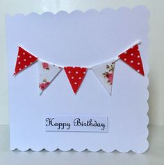 Excited to share the latest addition to my #etsy shop: Bunting birthday  card, greetings card, card for her, card for mum